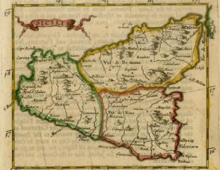 Carta della Sicilia 1680