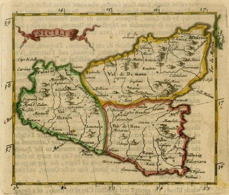 Cartina Sicilia Antica.Cartografia Feudo Montoni
