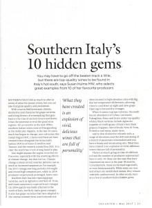 Decanter May 2017 - Southern Italy's 10 hidden gems